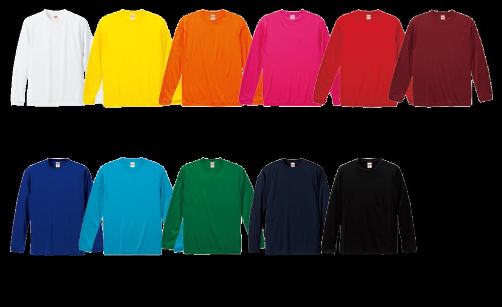 【5089】 4.7オンス ドライシルキータッチ ロングスリーブ Tシャツ(ローブリード)